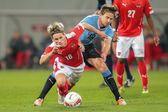 Austria vs. Uruguay — Stock Photo