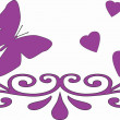 Royalty-Free Stock Photo: Heart and butterflies