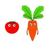Carrot. Tomato. — Stock Photo