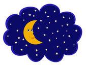 Księżyc i gwiazdy. — Zdjęcie stockowe