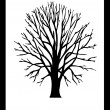 Stock Photo: Vector Tree Black