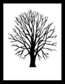 Vector Tree Black — Stock Photo