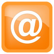 E-mail yellow circle icon — Stock Photo