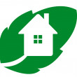 Logo eco house — Stock Photo