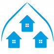 Logo Houses icon — Stock Photo