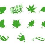 iconos de hoja — Foto de Stock