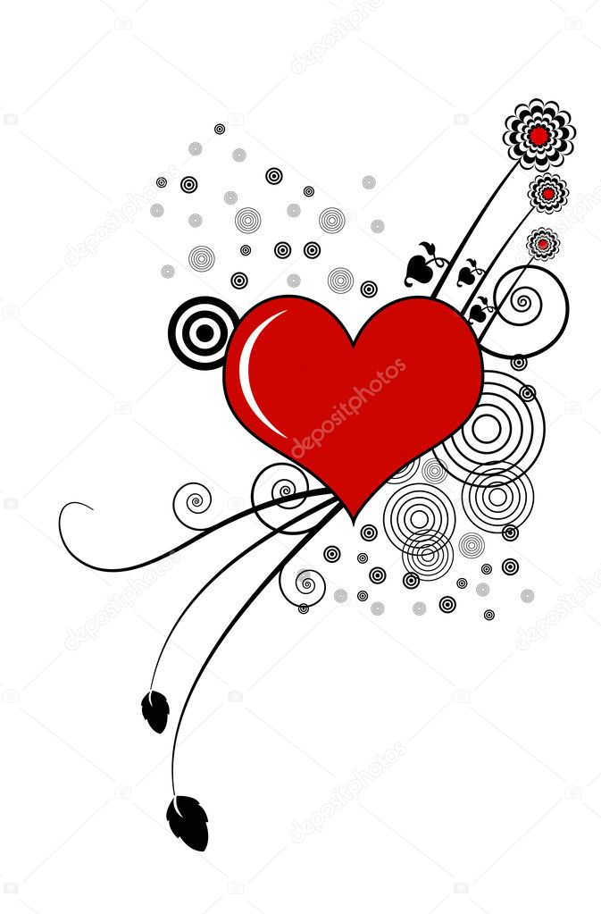 Abstract valentine's background with hearts, vector illustration — Stock Photo #13993489