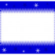 Blue Christmas frame — Stock Photo #14187844