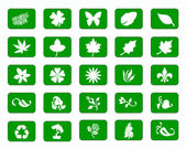Green Icons — Foto de Stock