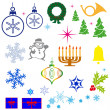 Stock Photo: Christmas icons.