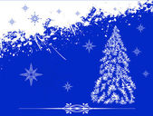 Fondo de navidad azul — Foto de Stock