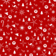 Christmas red background. — 图库照片