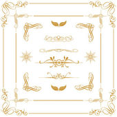 Gold decorative elements — Stock Photo