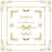 Gold decorative elements — Stock Photo