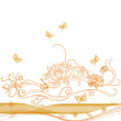 Stock Photo: Autumn vector floral background