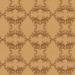 Seamless Damask wallpaper — Stock Photo