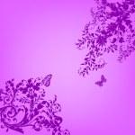 Violet floral banner — Stock Photo #17176285