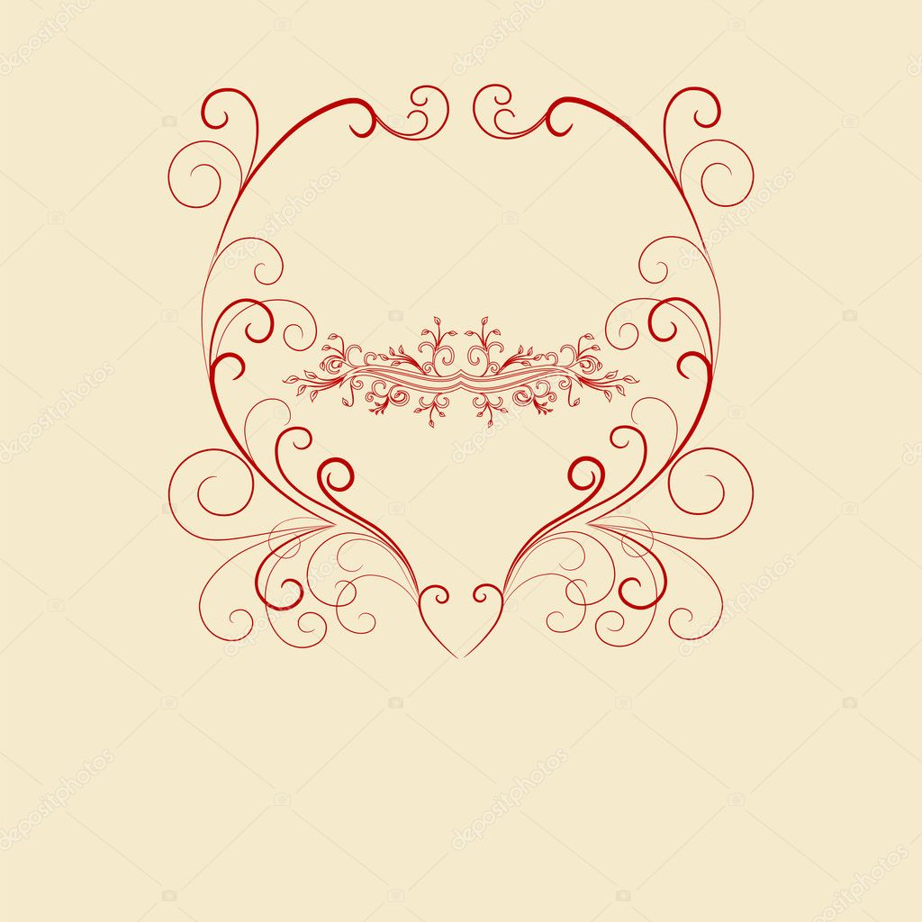 Abstract floral background. Vector heart with flower petals. Element for design.  — Stock Photo #17175629