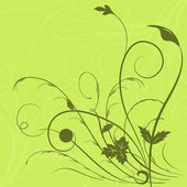 Flower seamless pattern with leaf — Stock Photo