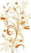 Květinové pozadí s motýl — Stock fotografie