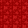 Seamless floral pattern. Rose flowers on a red background. — Stock Photo