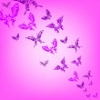 Stock Photo: Colorful background with butterfly.