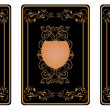 Stock Photo: Three gold vip cards with pattern