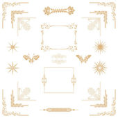 Gold decorativel elements — Stock Photo