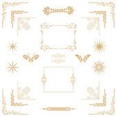 Gold decorativel elements — Stock Photo