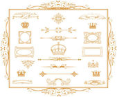 Gold calligraphic design elements and page decoration! — Stock Photo