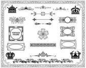 Kalligraphische designelemente und seite dekoration — Stockfoto