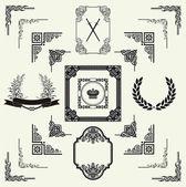 Vektor-satz von horizontal-floral-schmuckelemente, ecken, — Stockfoto