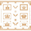 Vector set of gold decorative elements! — Stock Photo