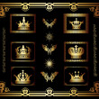 Vector set of gold decorative elements!!! — Stock Photo