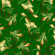 Stock Photo: Wallpaper with floral ornament!