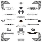 Vector set of black decorativel elements — Stock Photo