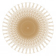 Stock Photo: Decorative gold patterns on white..