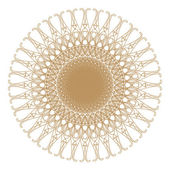 Decorative gold patterns on white. — Stock Photo