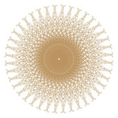Decorative gold patterns on white.. — Foto Stock