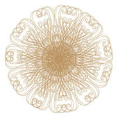 Decorative gold patterns on white! — Stock Photo