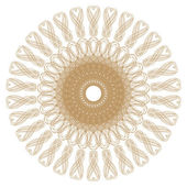 Decorative gold patterns on white... — Stock Photo