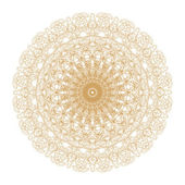 Decorative gold and frame with vintage round patterns on white! — Stock Photo