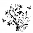 Постер, плакат: Floral ornament with butterfly