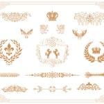 Vector set of gold decorative horizontal floral elements! — Stock Photo #19988807
