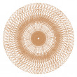 Stok fotoğraf: Decorative gold and frame with vintage round patterns on white!