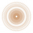 Decorative gold and frame with vintage round patterns on white! — ストック写真 #20354327