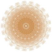 Ozdobny złota i rama z rocznika okrągłe wzory. — Zdjęcie stockowe