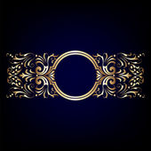 Decorative Vintage Ornate Banner! — 图库照片