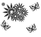 Zwart vlinder.. — Stockfoto