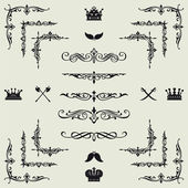 Set of gold decorative horizontal floral elements! — Φωτογραφία Αρχείου